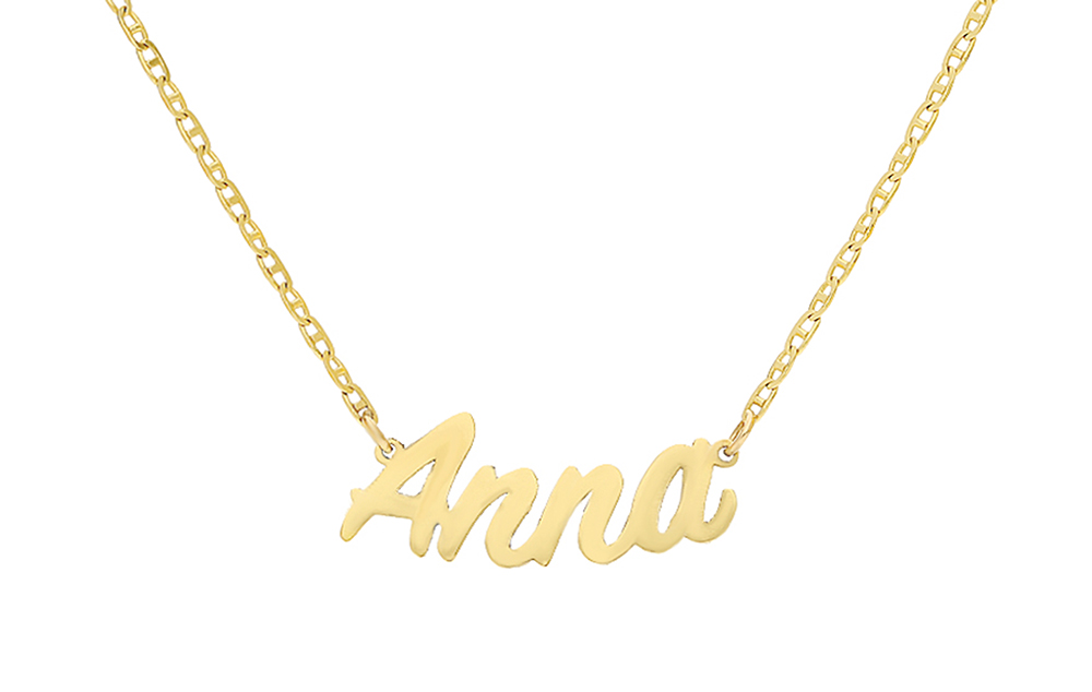 p gold engraved necklace personalised angel asp name wing plated pendant