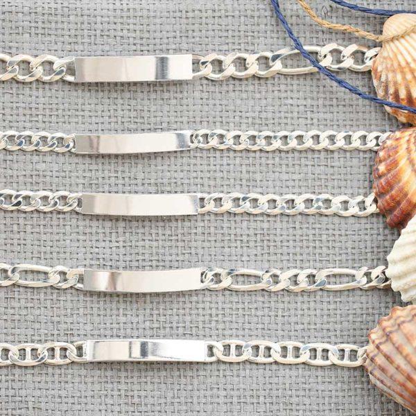 ID Bracelet engrave silver mens jewellery