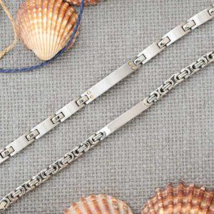 ID Bracelet engrave stainless steel mens jewellery